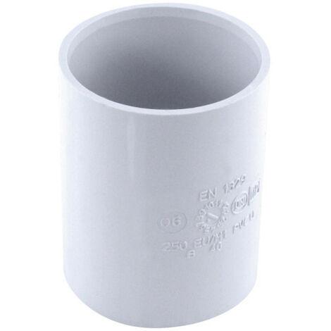 Manchon pvc à butée ff ø 40 mm blanc