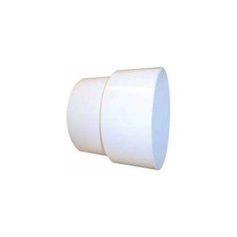 Manchon PVC blanc Femelle D.100mm Mâle D.93mm.