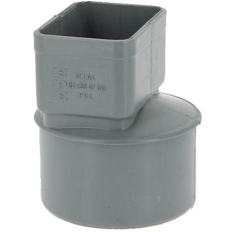 Manchon PVC O100 pour sortie tube alu 82x56mm gris