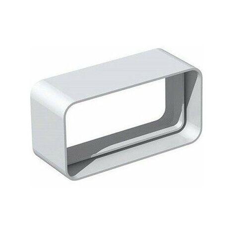 Manchon rectangulaire MCR pour conduit PVC Rigide - Extra-plat 40 x 110 mm