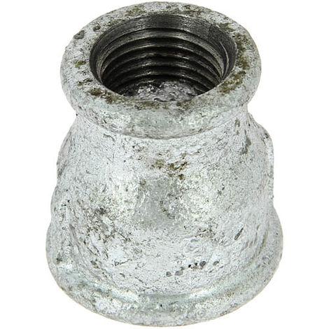 Manchon réduit en fonte galvanisé - Femelle / Femelle (G240) - Filetages 33/42 - 26/34