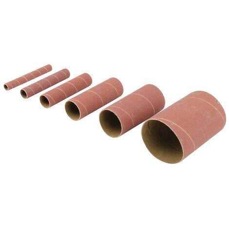 Manchons de ponçage en oxyde d'aluminium, 6 pcs Choix du modèle TSS80G. Grain 80. 6 pcs