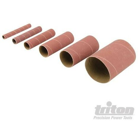 """main image of """"Manchons de ponçage en oxyde d'aluminium, 6 pcs, TSS240G, Grain 240, 6 pcs, 240"""""""