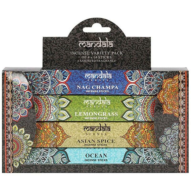 Image of Incense Sticks Set (Pack of 56) (One Size) (Multicoloured) - Mandala