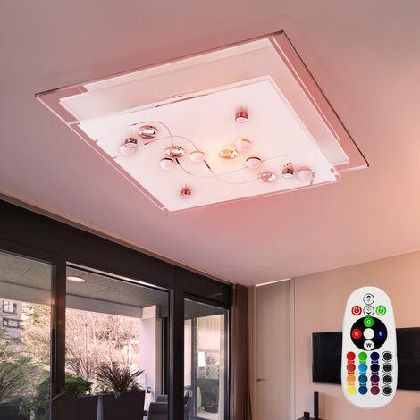 mando a distancia Lámpara de pared cambiador de color de 3,5 vatios LED RGB techo de cristal regulador de cromo