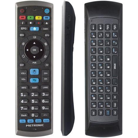 Mando a distancia universal para PC, giroscópico, air mouse, con teclado QWERTY, receptor RF USB para Smart TV Android - incluye smart TV Android
