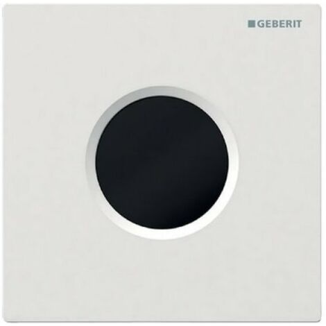 Mando de urinario Geberit con desagüe electrónico, funcionamiento a través de la red eléctrica, placa de recubrimiento tipo 01, color: blanco-alpino - 116.021.11.5