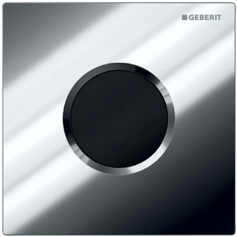 Mando de urinario Geberit con desagüe electrónico, funcionamiento a través de la red eléctrica, placa de recubrimiento tipo 01, color: cromado brillante - 116.021.21.5