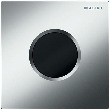 Mando de urinario Geberit con desagüe electrónico, funcionamiento a través de la red eléctrica, placa de recubrimiento tipo 01, color: cromado mate - 116.021.46.5