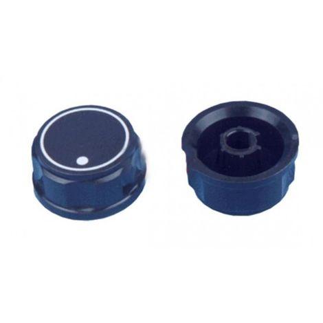 Mando grifo gas encimera Corbero negro diametro Eje 8 mm