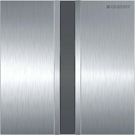 Mando para urinario Geberit con desagüe electrónico, funcionamiento a través de la red eléctrica, placa de recubrimiento tipo 50 - 116.026.GH.1