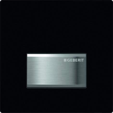 Mando para urinario Geberit con desagüe neumático, placa de accionamiento tipo 50, color: negro intenso RAL 9005 - 116.016.DW.5