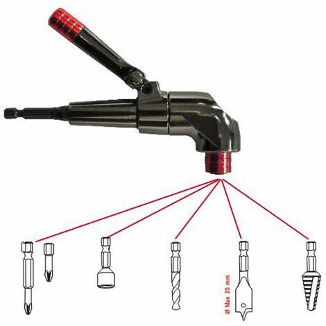 Mandrin 3/8 10mm TIVOLY Haute qualité de perçage/vissage à 90° Spécial Accès difficiles Poignée orientable