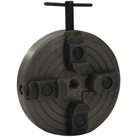 Mandrin à bois 4 mâchoires et connexion M18 Acier Noir 150x63mm