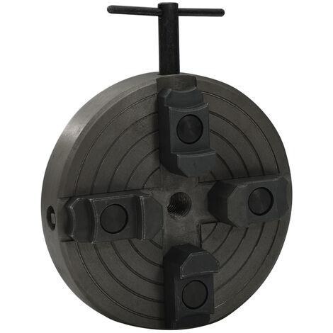 Mandrin a bois 4 machoires et connexion M18 Acier Noir 150x63mm