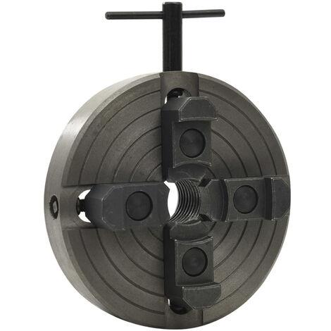 Mandrin a bois 4 machoires et connexion M33 Acier Noir 150x63mm