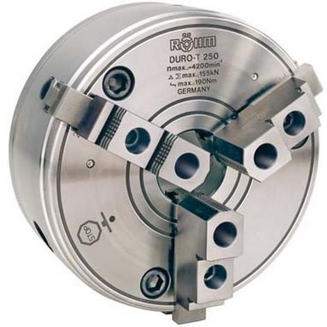 Mandrin à crémaillère à trois mors DURO-T avec dispositif de centrage cylindrique DIN 6350, Taille : 400 mm, Pouces 15.3/4