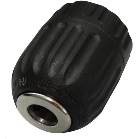Aerzetix Mandrin de perceuse auto-serrant pour forets 0.8-10mm filetage 3//8-24UNF taraud/é sans cl/é C17791