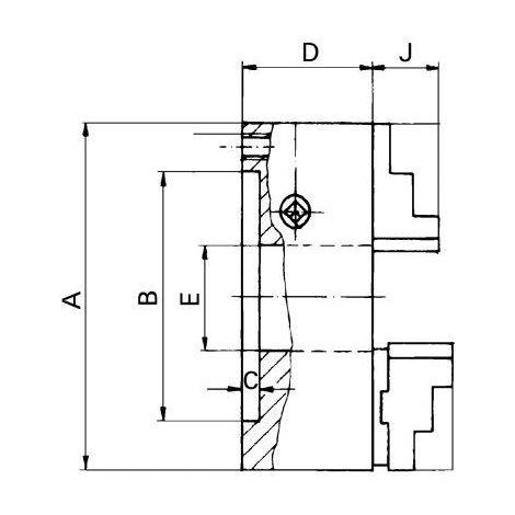 Mandrin de tour à 3 mors DIN6350 fonte 125/ 3 FORMAT 1 PCS