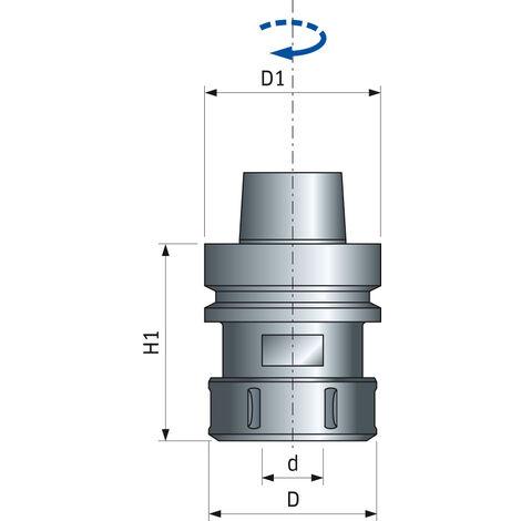 Mandrin haute précision HSK63F FREUD - Ø63/06-25 H63/78 - F03FA19228 -MP10MDC BA9