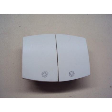 Manette double pour vmc avec stop blanche INITIA réf ARD69407