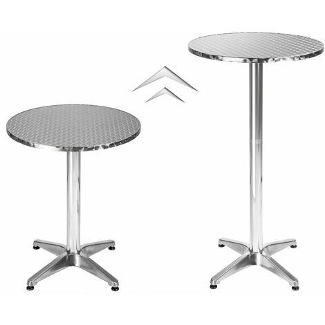 Mange debout aluminium diamètre table 60 cm diamètre pied 5,8 cm non-pliable hauteur réglable 70/110 cm