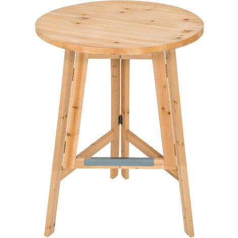 Mange debout bois Ø 79 cm - table bar, table haute, table haute de bar - marron