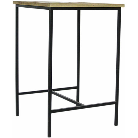 Mange debout industriel bois et métal - Bois