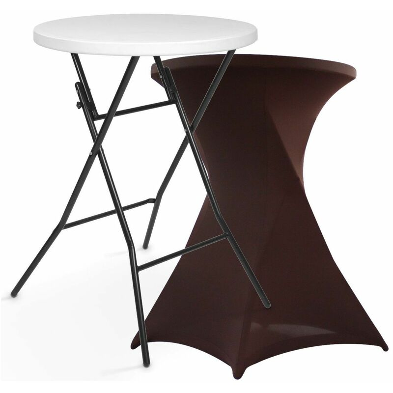 Rekkem - Mange debout pliant 110x80 et housse stretch marron