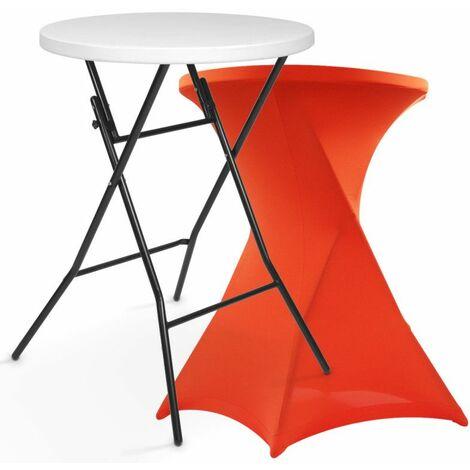 Mange debout pliant avec housse stretch orange