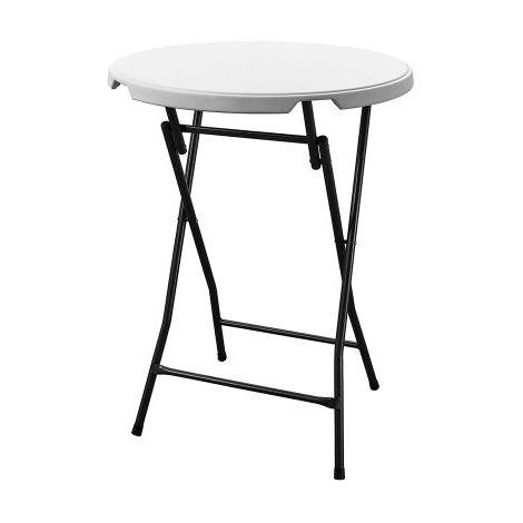 Mange Debout - Table de bar cocktail dia.80cm Blanc