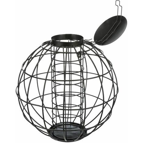 """main image of """"Mangeoire 4 boule de graisse/grille prot., métal - ø 22 × 24 cm, noir"""""""