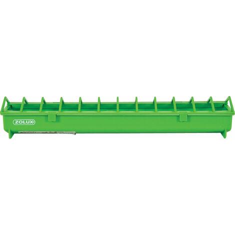 Mangeoire 50 cm. vert en plastique. pour basse cour.