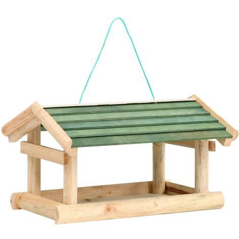 Mangeoire à oiseaux Bois de sapin 35x29,5x21 cm