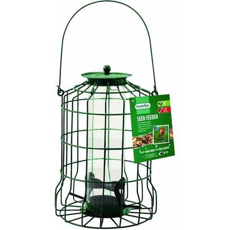 Mangeoire à oiseaux en acier à l'abri des écureuils Bird - Vert