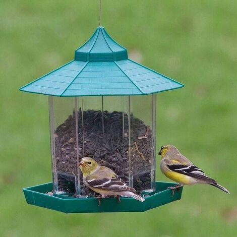 Mangeoire À Oiseaux, Lanterne Suspendue Mangeoire À Oiseaux Mangeoires À Graines De Jardin Abris De Pluie Résistant Aux intempéries