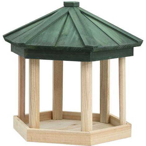 Mangeoire à oiseaux Octogone Bois de sapin 33x30 cm