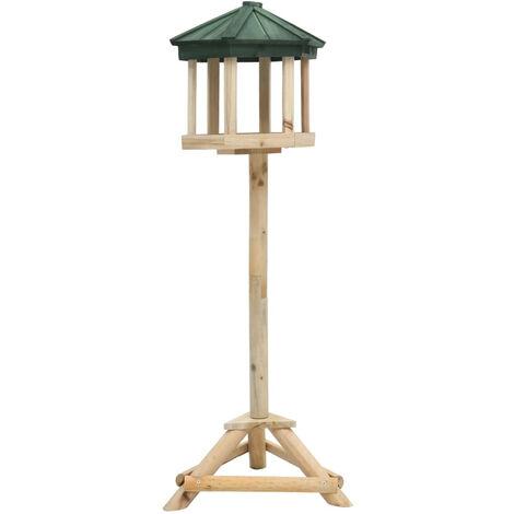 Mangeoire a oiseaux sur pied Bois de sapin 33x106 cm