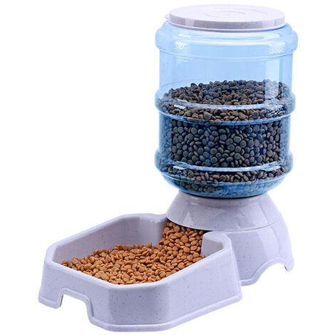 Mangeoire Automatique Pour Animaux, Carre De 3,8 L, Gris
