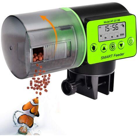 Mangeoire Automatique pour Poissons d'aquarium, mangeoire électrique Automatique étanche à l'humidité, mangeoire d'aquarium, Distributeur de Nourriture pour Les Vacances et Les Week-Ends