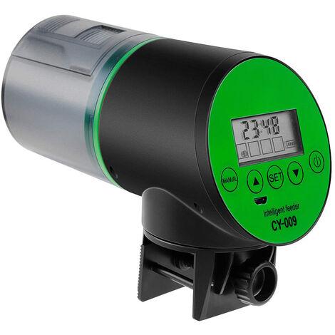 Mangeoire automatique pour poissons Distributeur de nourriture pour poissons Rechargeable USB Base rotative Super Mute de synchronisation intelligente avec écran LCD pour aquarium Poisson Réservoir