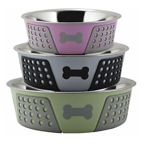 Mangeoire en acier inoxydable pour chiens et chats Belle mangeoire antidérapante pour chiens et chats disponible en plusieurs options.