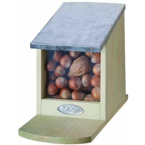 Mangeoire en Bois et Zinc pour Ecureuils