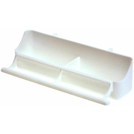Mangeoire oiseaux plastique blanc 18cm