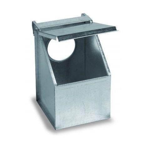 Mangeoire pigeons et perdrix 1 compartiment métal