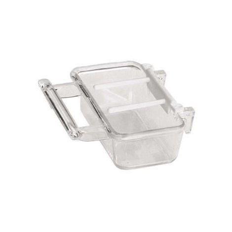Mangeoire pour cage avec râteau