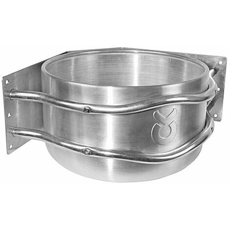 Mangeoire pour chevaux à paroi d'angle ronde en aluminium avec protection contre les chocs