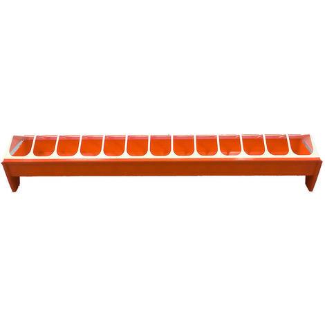 Mangeoire poussin 50 cm - orange