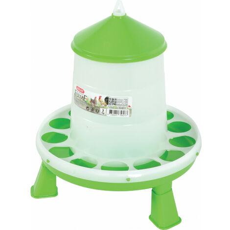 Mangeoire silo en plastique avec pieds. capacité 2 kg. basse cour.