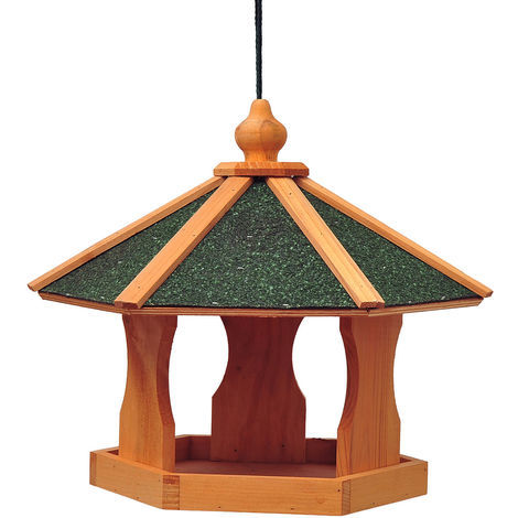 Mangeoire suspendue nichoir à oiseau pour extérieur en bois 40 x 40 x 35 cm
